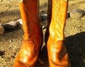 Vintage Dingo Women's Tan Cowboy  Boots 6 1/2 N