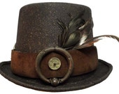 Traveler Gentleman's Victorian Steampunk Top Hat