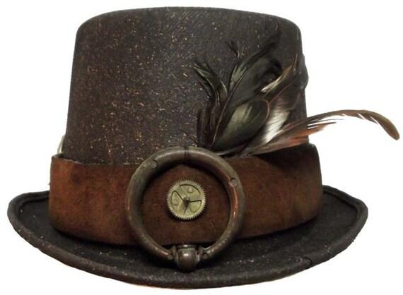 Traveler Gentleman's Victorian Steampunk Top Hat