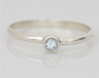 Aquamarine Ring in Sterling
