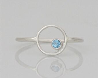 Blue Topaz Ring in Sterling