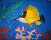 Aquatic Life drawing (Oil Pastel)