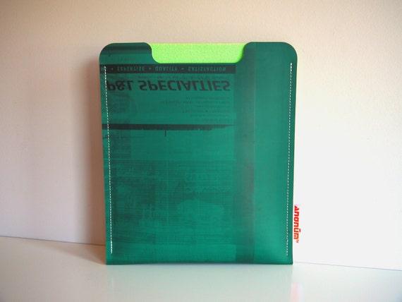 SALE 50% OFF - iPad case, iPad sleeve, iPad cover fits iPad 1, 2 & 3 made of recycled printing blankets