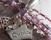 Queen of Everything - February is Purple - necklace