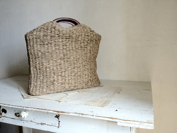 Basket Bohemian Style in Biscuit Brown, Grey, Fawn, Slate or Beige. Woven to Order