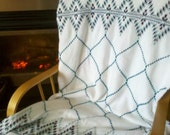 Swedish Weave Blanket IX - Valentine's Day Sale until 2/14/2012