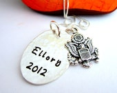 Personalized Jewelry - Personalized Name Necklace - Sterling Silver - Military US Navy - Love my Soldier