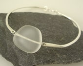 Seaglass Jewelry Bangle Bracelet Sterling Silver