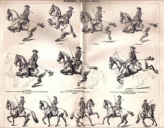 1897 cavalry classical dressage movements piaffe ballotade