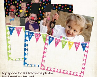 Circus - Carnival Photo Thank You Notes for Boy or Girl - You Print