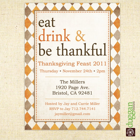 The gallery for gt thanksgiving potluck invitation for Thanksgiving invite template