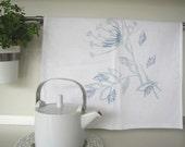 Screen Printed Tea Towel Floral Design