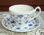 Yorktown Teacups by Salem China Olde Staffordshire Pattern