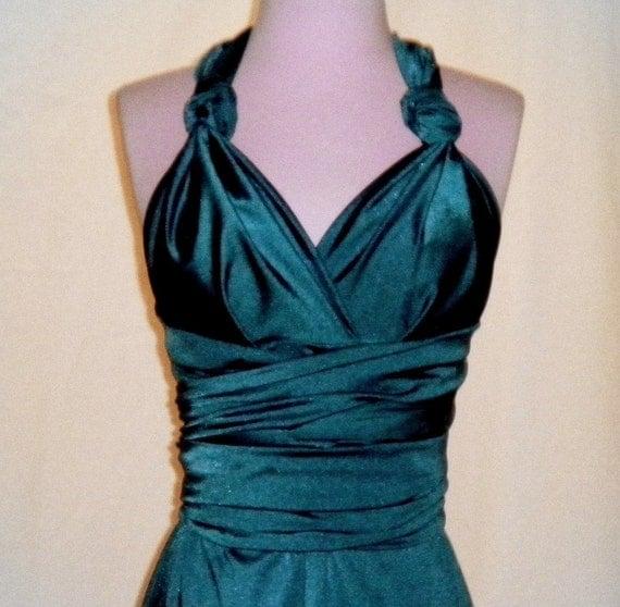 Custom Listing Tiffany x3 Shiny Mallard BRIDESMAID Wrap Dress...Wedding Party, Beach, Honeymoon, Vacation, Cocktail Party, Dinner