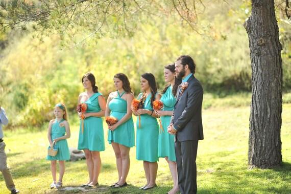 Custom Brittany/MichelleB Matte Seafoam Green Convertible Wrap Dress...Bridesmaids, Weddings, Special Occasion, Honeymoon