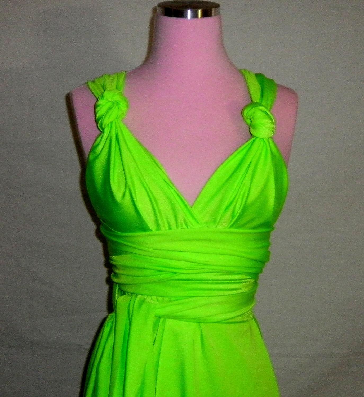 Neon Green Convertible Dress...Bridesmaids Date Night by ...