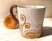 Royal Coffeehand painted  porcelan cup