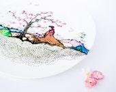 Cherry Tree Plate - Decorative Cherry flower plate