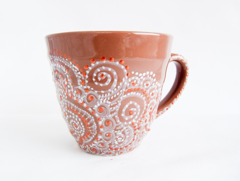Coffee mug ceramic mug cappuccino mug mug by craftunikat for Paint and pottery