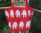 Marching Elephants Tote