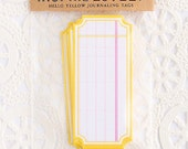 8 Hello Yellow Journaling die cut tags