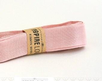 Vintage inspired Seam Binding ribbon xoxo- Vintage Pink