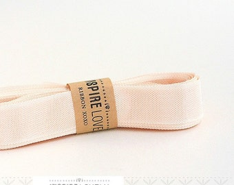 Vintage inspired Seam Binding ribbon xoxo- Blush