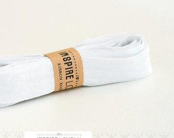 Vintage inspired Seam Binding ribbon xoxo- Soft Silver