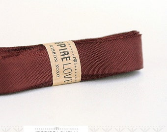 Vintage inspired Seam Binding ribbon xoxo- Mister Brown