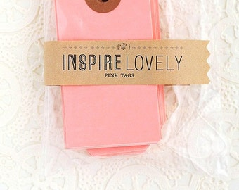 20 Mini Gift Tags - Pink Blank Tags