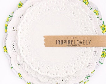 100 Doilies perfect for packaging wedding favors, birthdays and gift giving