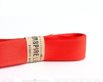 Vintage inspired Seam Binding ribbon xoxo- Vintage Red