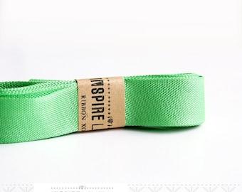 Vintage inspired Seam Binding ribbon xoxo-Sweet Pea Green