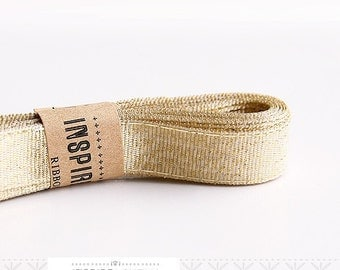 20 yards Gold Ribbon xoxo