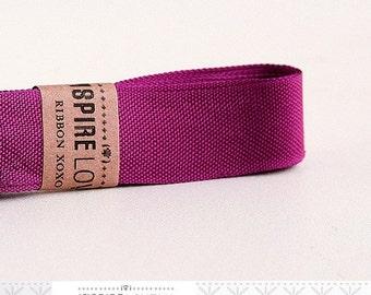 Vintage inspired Seam Binding ribbon xoxo- Berry Purple