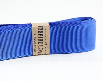 25 yards Deep Blue Grosgrain Ribbon xoxo