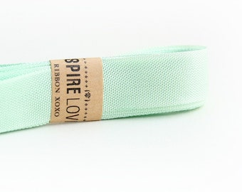3 yards of beautiful mint green vintage inspired seam binding ribbon