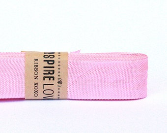 Vintage inspired Seam Binding ribbon xoxo- Pretty in Pink
