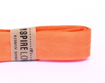 Vintage inspired Seam Binding ribbon xoxo- Pretty Orange