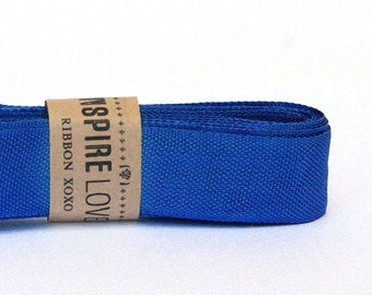 Vintage inspired Seam Binding ribbon xoxo- Handsome Blue