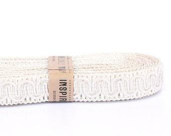 4 yards Cream White Detail Trim xoxo