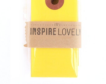 20 Mini Gift Tags - Yellow blank tags