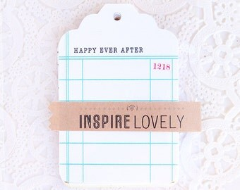 Library Xo Journaling Tags - Large