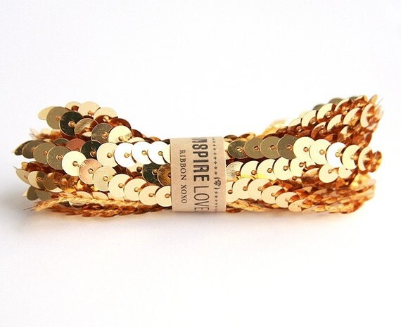 Gold Sequin Trim on Etsy: Inspire Lovely