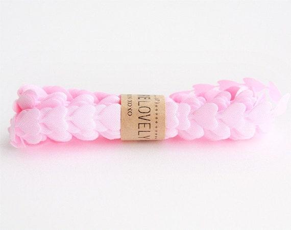 Pink Puffy Heart Ribbon xoxo