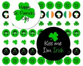 INSTANT DOWNLOAD St. Patrick's Day Irish Kiss Me Printable Digital File for Kisses Candy Label Stickers