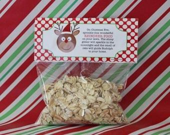 Printable DIY Reindeer Food Holiday Party Favor Tag Topper INSTANT DOWNLOAD