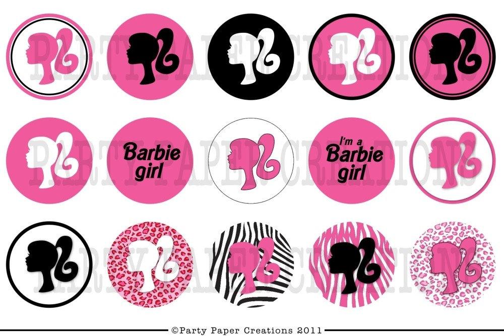 Enterprising image throughout free printable barbie silhouette