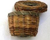 Antique Miniature Sewing Basket Charming