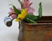 Vintage Copper Spring Herb Planter